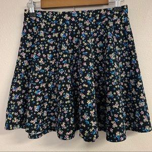 Olsenboye floral mini circle skirt